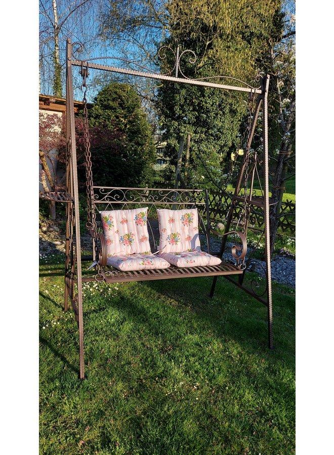 Hollywoodschaukel - Gartenschaukel im Vintagestil aus Metall