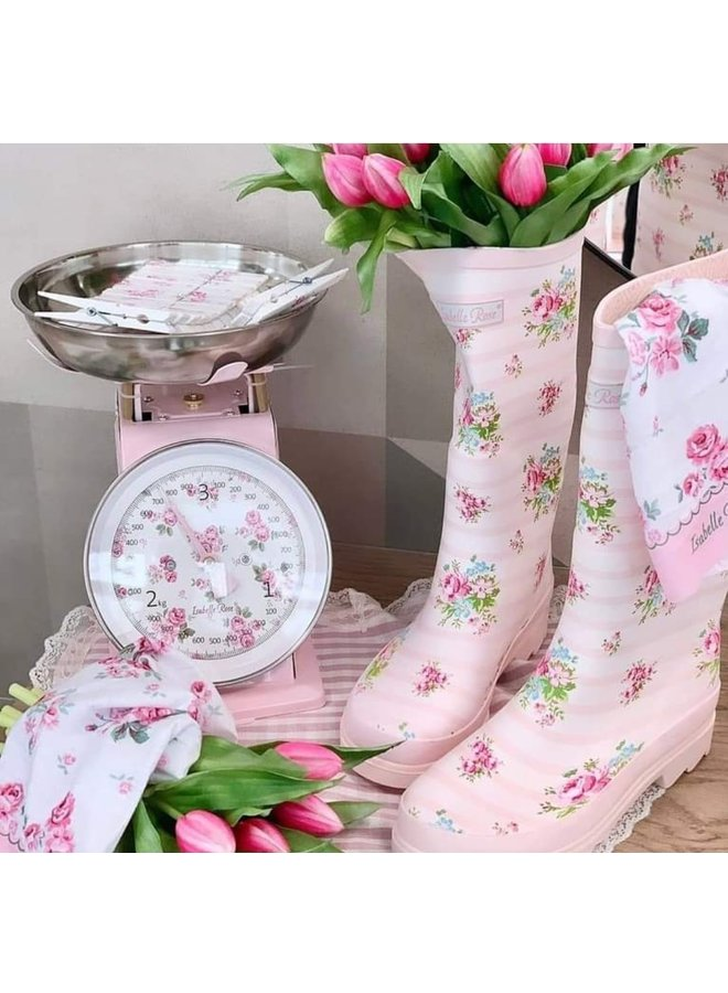 Gummistiefel mit Rosen - Rosa