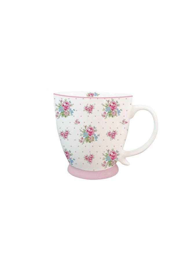 """Porzellan Tasse """"Rosa Blüten"""""""