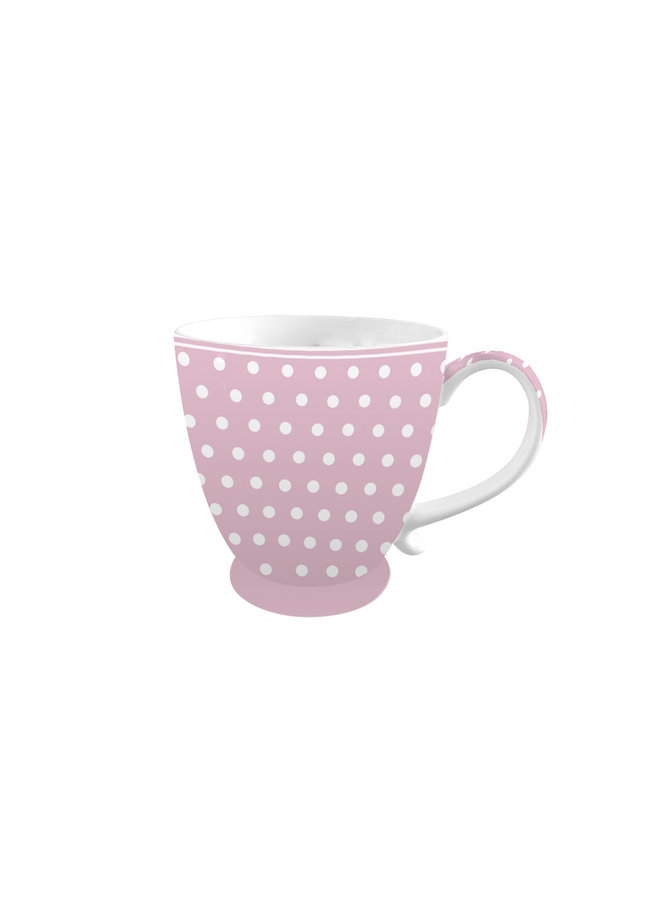 "Porzellan Tasse ""Pink with Dots"""