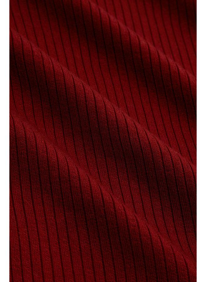Longsleeve - Rollneck Top Uni Rib Tencel - Pecan Brown
