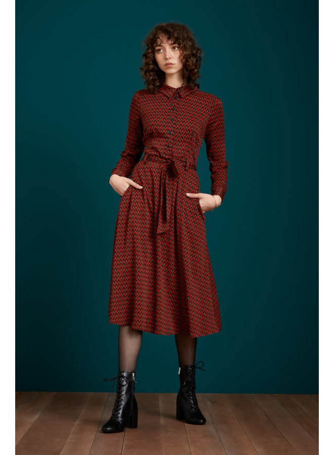 Kleid - Sheeva Dress Earl Grey - Brunette Brown