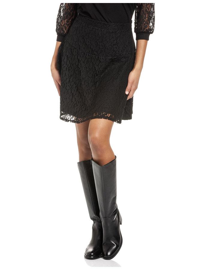 Preppy Lace Damen A-Linien-Rock - schwarz