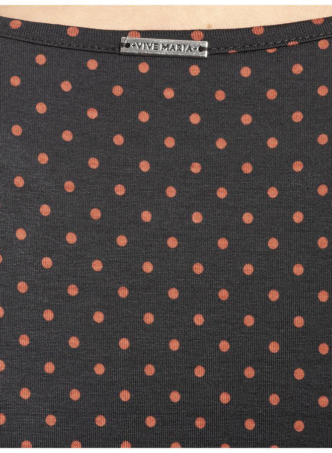 Harvest Dots Damen A-Linien-Kleid - dunkelblau allover