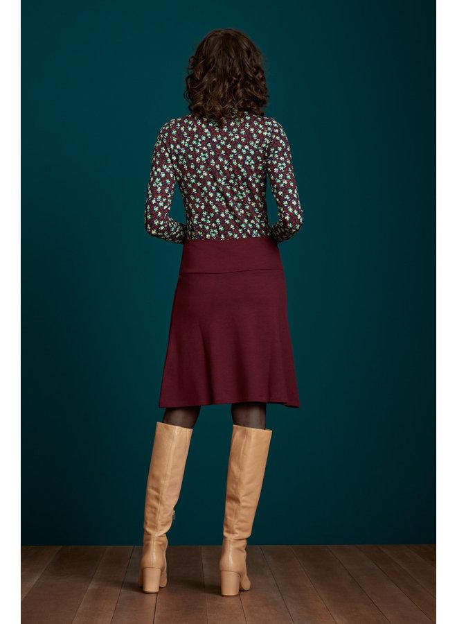 Rock - Border Skirt Milano Uni - Bordeaux Red