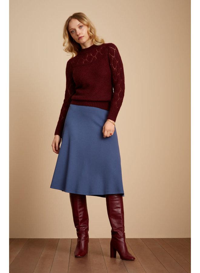 Rock - Juno Skirt Milano Crepe - Stone Blue