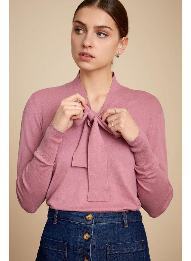 Pullover - Ellen Bow Top Cottonclub -  Mauve Pink