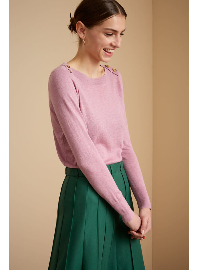 Pullover - Marie Top Cocoon - Mauve Pink
