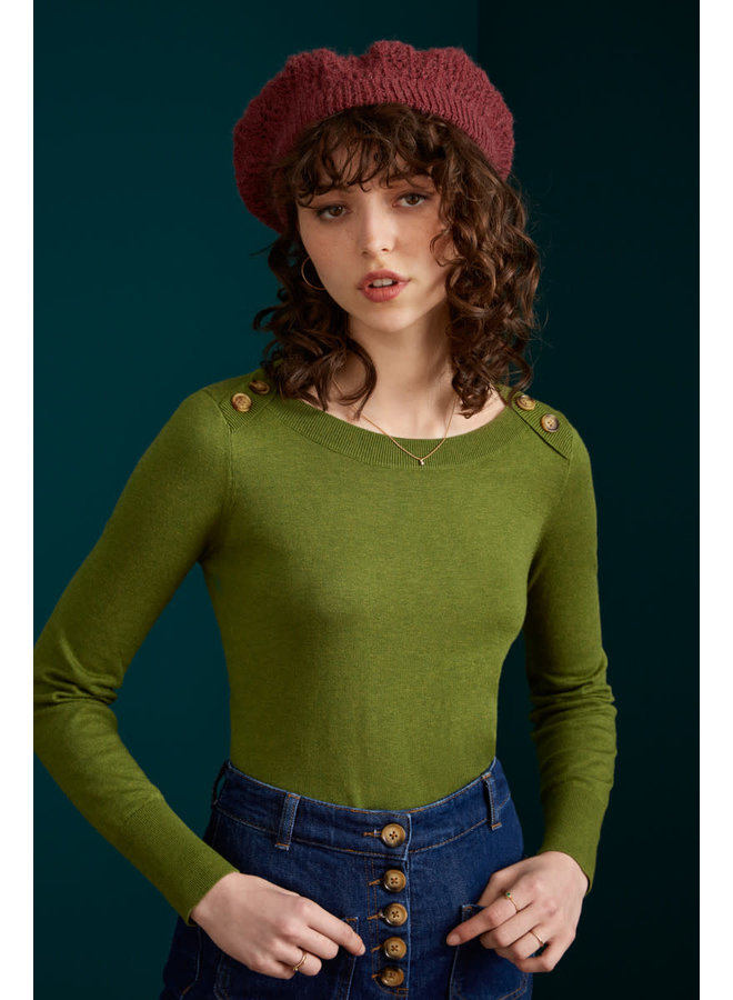 Pullover - Marie Top Cocoon - Posey Green