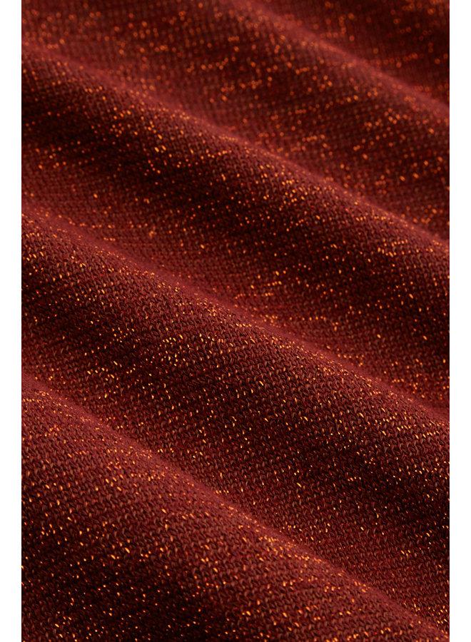 Cardi Roundneck Organic Lapis - Pecan Brown