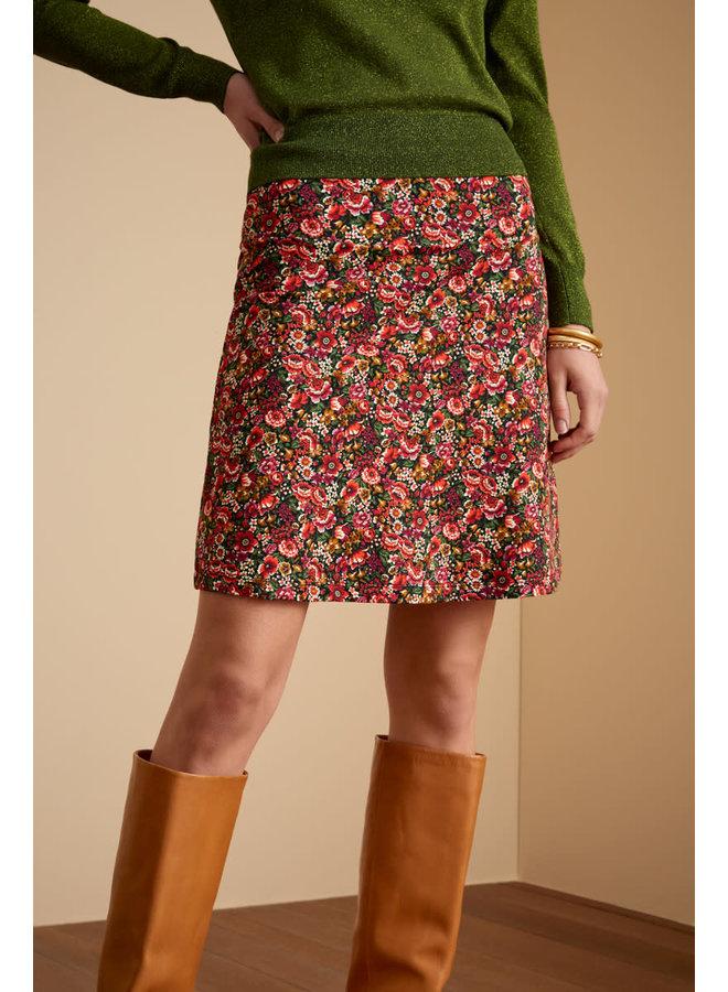 Rock - Border Skirt Rosegarden - Black