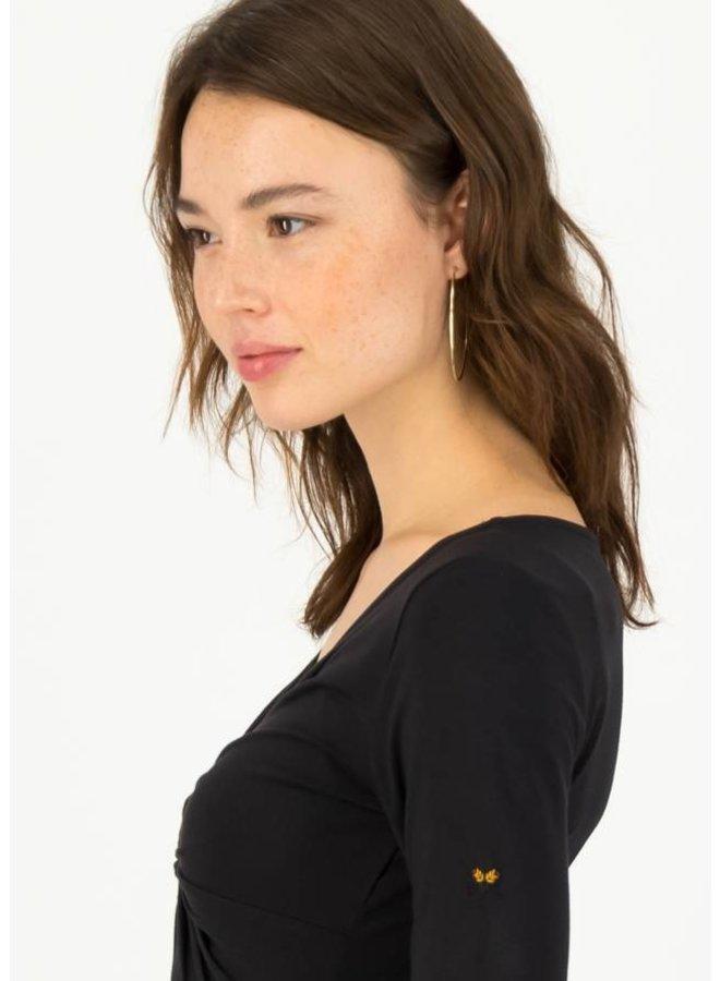 Longsleeve hot knot lacy - black beautys