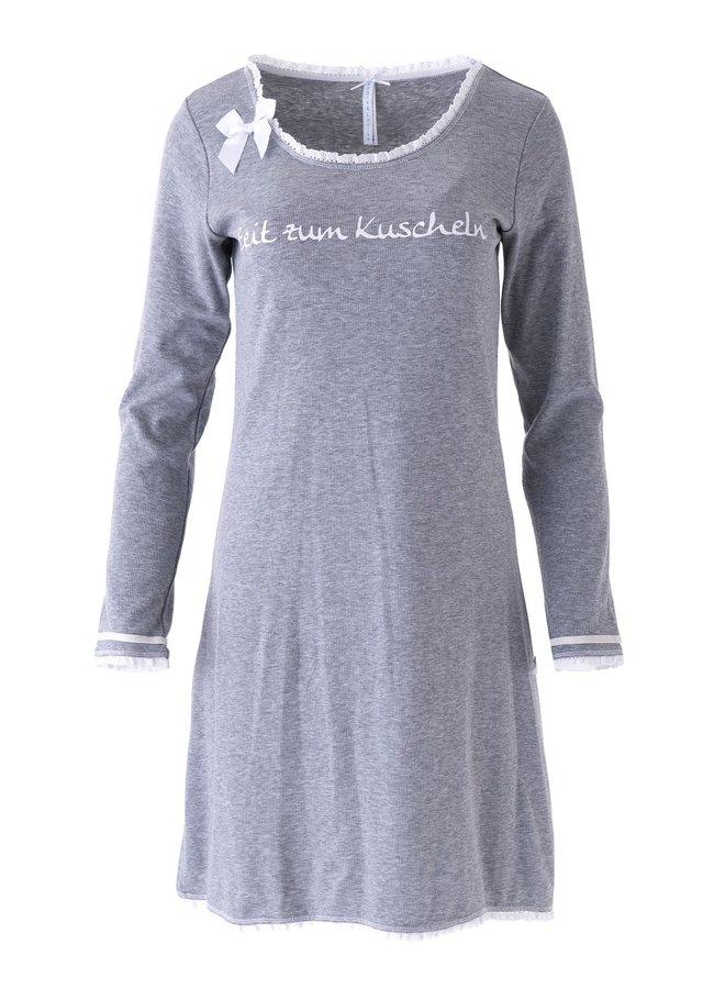 """Nachthemd """"Zeit zum Kuscheln"""", grau"""