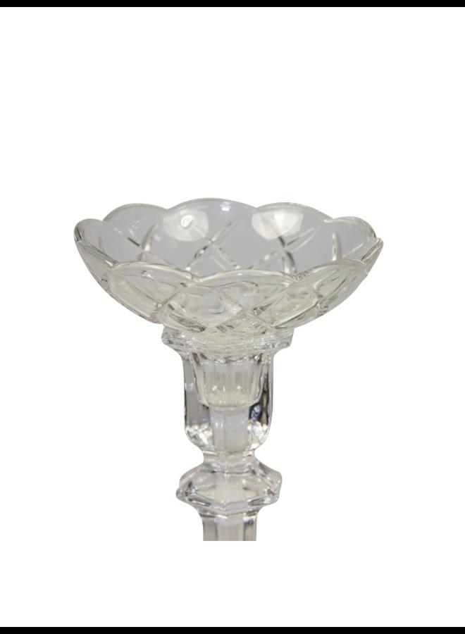 Kerzenmanschette aus Glas geschliffen - 10 cm