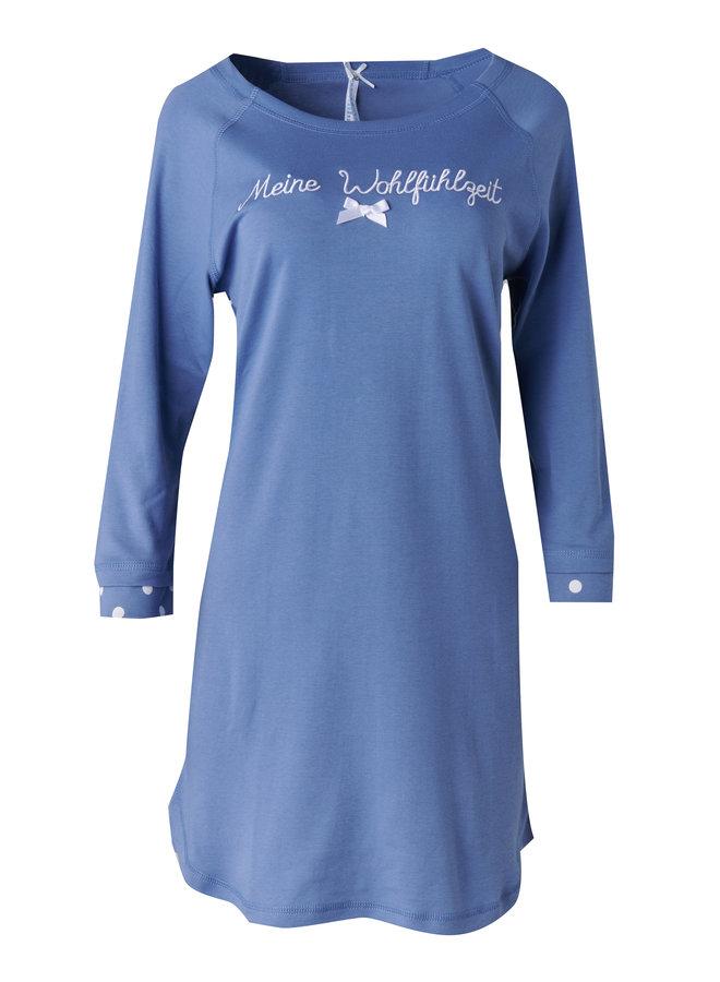 """Nachthemd """"Meine Wohlfühlzeit"""", infinity blau"""