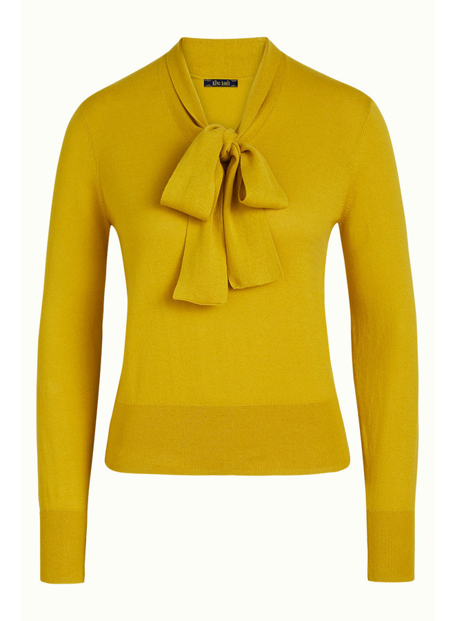 Pullover - Ellen Bow Top Cottonclub - Spring Yellow
