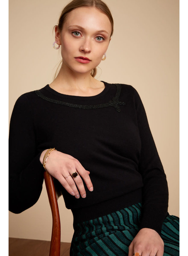Pullover - Top Beady - Black