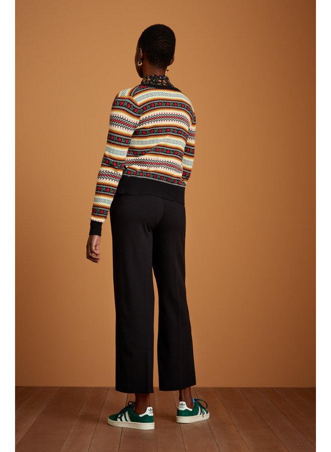 Hosen - Fintan Trousers Woven Crepe - Black