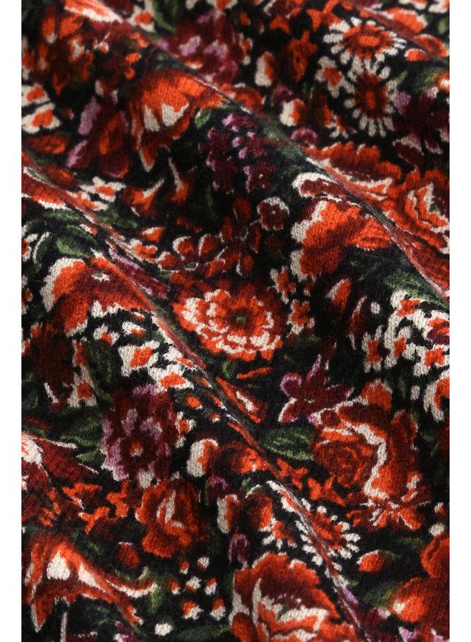 Pullover - Agnes Boatneck Top Rosegarden - Black