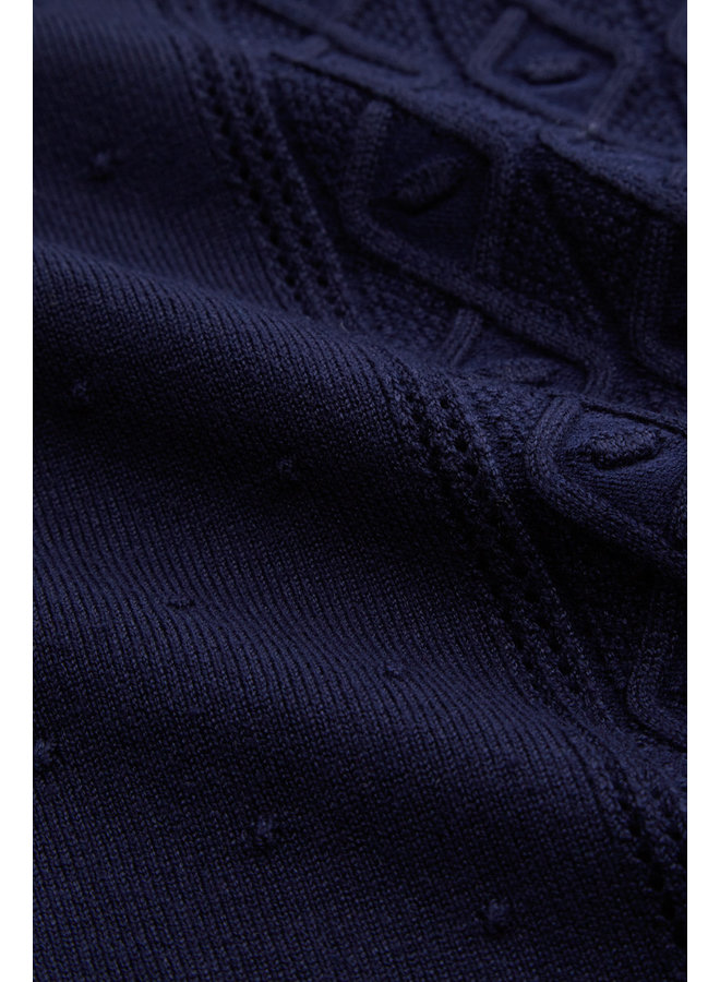 Pullover - Cable Top Droplet - Blue