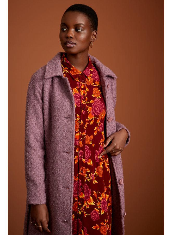Mantel - Rachel Coat Ottawa -  Mauve Pink