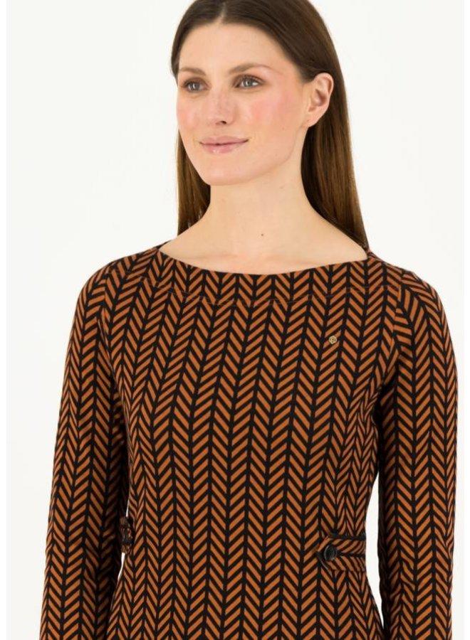 Etuikleid mod a lula - brown zig zag