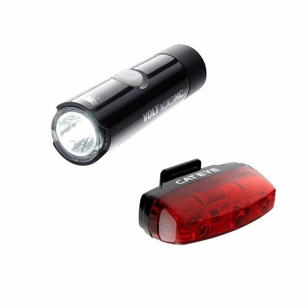 CatEye LIGHT SET CATEYE VOLT100+ RAPID MICRO USB RECHARGABLE