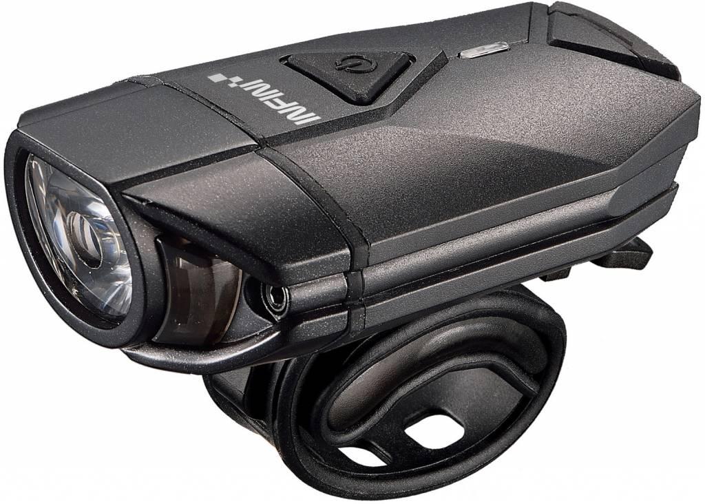 Super Lava 300 lumen USB front light with bar and helmet brackets Black