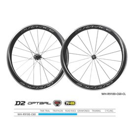 Shimano Wheelset Shimano WH-R9100-C60-CL Dura-Ace wheel Carbon clincher 50 mm pair Q/R