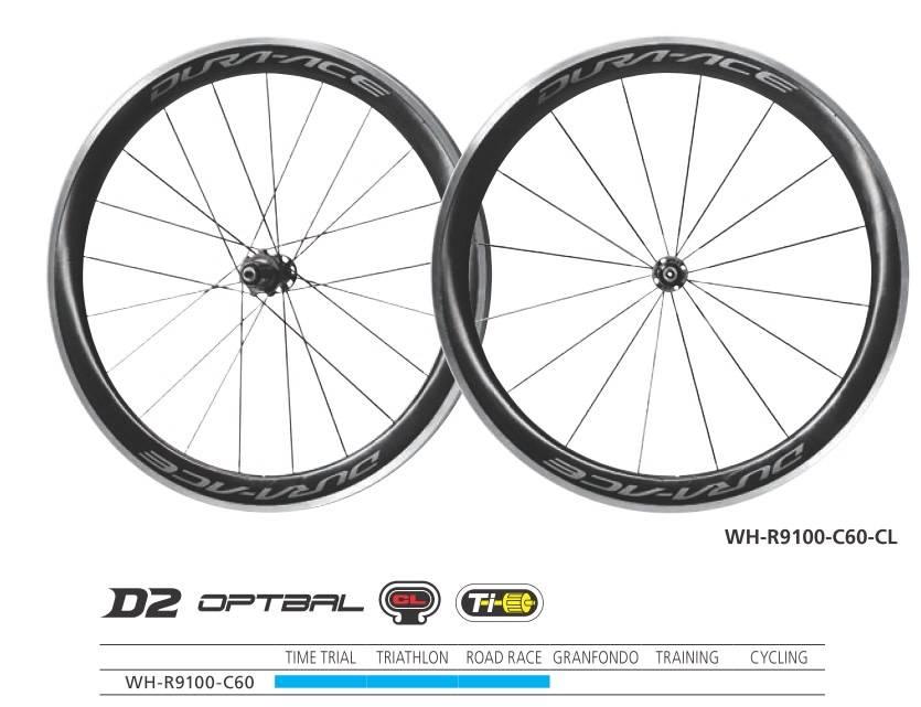 Shimano Wheelset Shimano WH-R9100-C60-CL Dura-Ace wheel Carbon clincher 50 mm pair Q/R