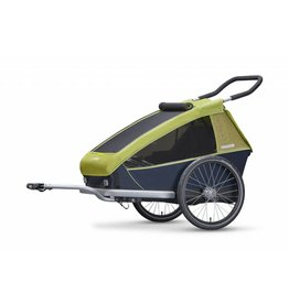 Croozer CROOZER Kid For 2 Double Trailer & Accessories. Lemon Green (2 seater, convertible into buggy)