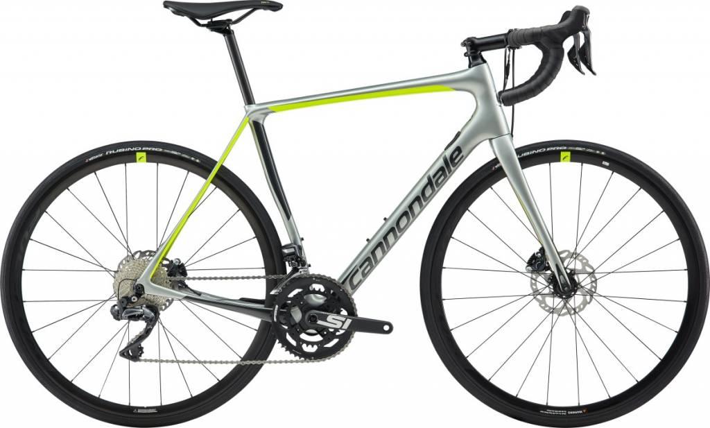 Cannondale Cannondale Synapse Carbon Disc Ultegra Di2 Road Bike 2019 Silver/Black/Lime