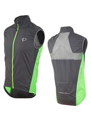 Pearl Izumi Men's ELITE Barrier Gilet, Smoked Pearl/Screaming Green