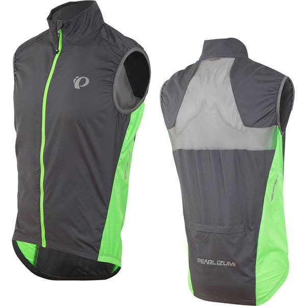 Pearl Izumi ELITE Barrier Mens Cycling Gilet, Grey/Green