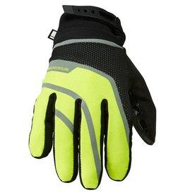 Madison Madison Avalanche men's waterproof gloves, hi-viz yellow / black