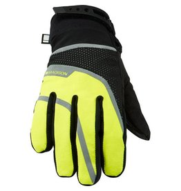 Madison Madison Avalanche womens waterproof gloves, black / hi-viz yellow