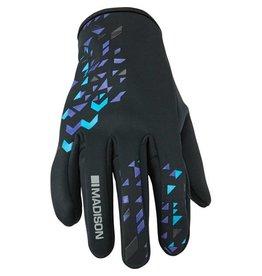 Madison Madison Element women's softshell gloves, black / purple