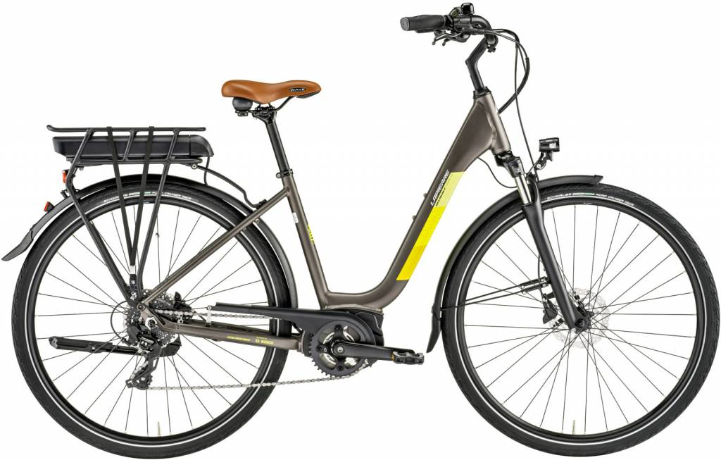 Lapierre Lapierre Overvolt Urban 300 300Wh Electric City Bike 2019 Grey/Yellow