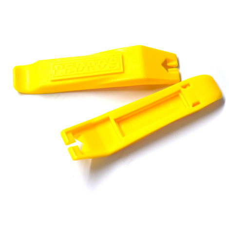 TOOL PEDROS TYRE LEVER YELLOW 1 SET = 1 pair