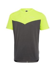 Madison Madison Stellar mens short sleeve jersey, hi-viz yellow / dark shadow