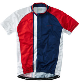 Madison Madison Tour mens short sleeve jersey, regal blue / flame red
