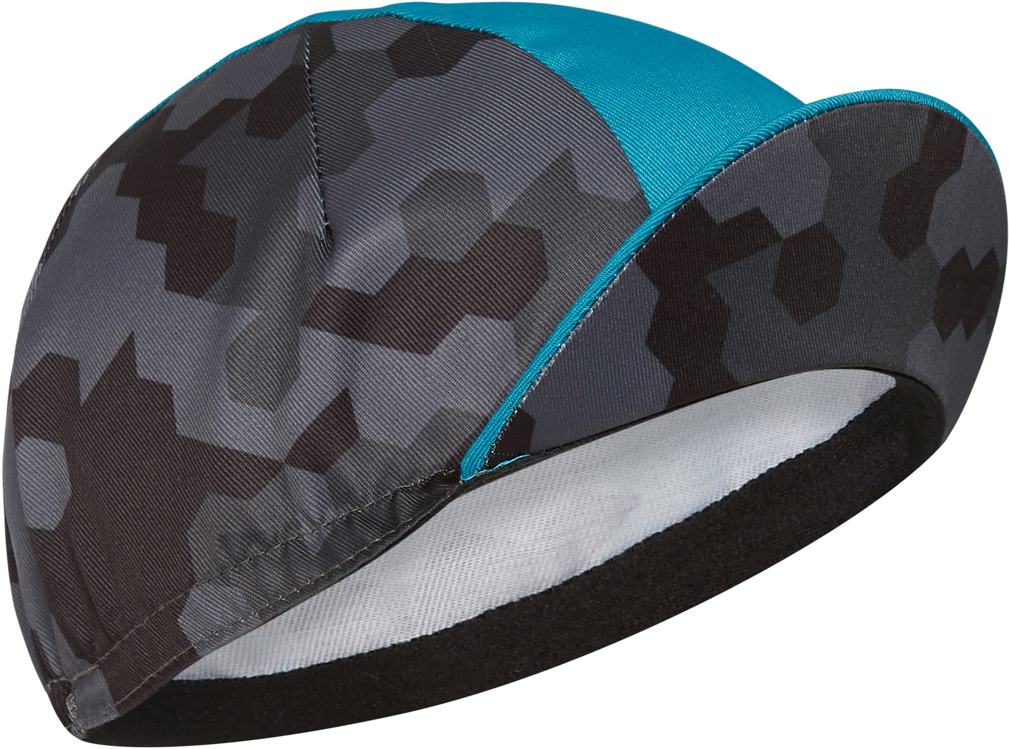 Madison Madison Sportive poly cotton cap, hex camo dark shadow / blue curaco one size Grey / Blue One Size
