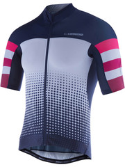 Madison Madison RoadRace Premio mens short sleeve jersey, navy / burgundy stripes Ltd