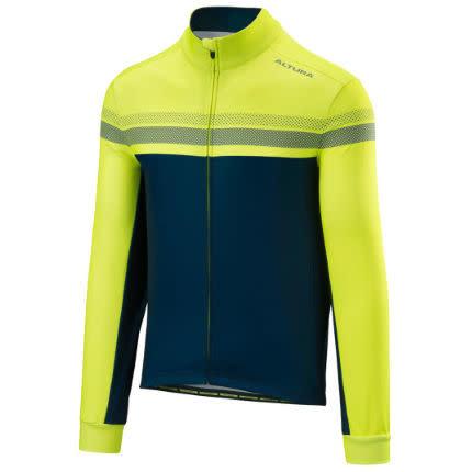 Altura Altura Nightvision 4 Long Sleeve Jersey Mens Hi-viz Yellow/Blue 2020