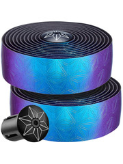 Supacaz Supacaz Bling Tape Bar Tape, Oil Slick w/ Ano Black Plugs