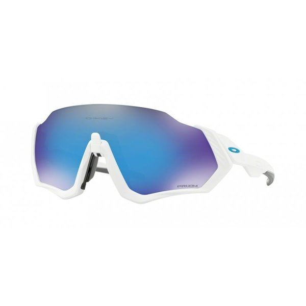 Oakley Oakley Flight Jacket Matte White - Prizm Road Sapphire lens