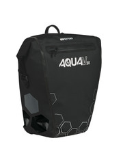 Oxford Aqua V 20 Litres Single Waterproof Cycling Pannier Bag, Black