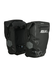 Oxford Aqua V 32 Litres Double Waterproof Cycling Pannier Bag, Black