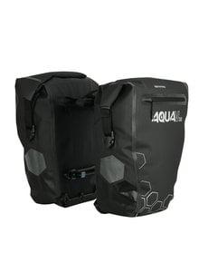 Oxford Aqua V 32 Litres Double Waterproof Cycling Pannier Bag, Black