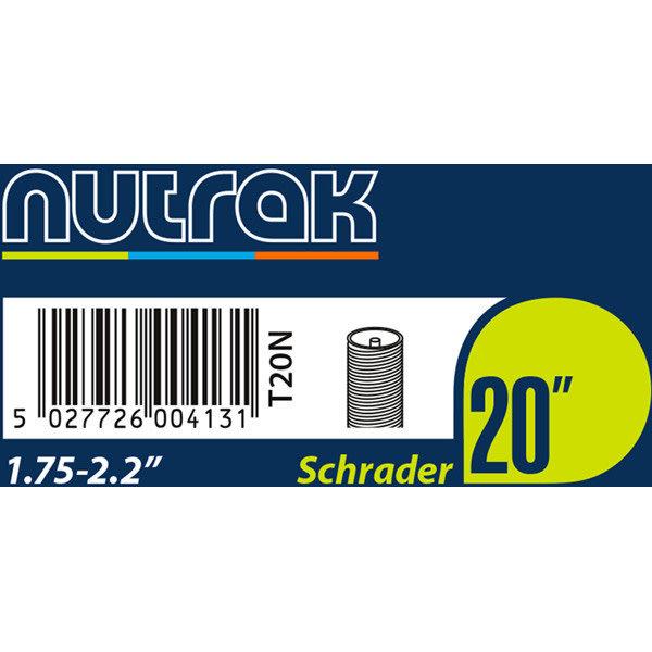 Nutrak Inner Tube 20 x 1.75-2.20, Schrader Valve, (tube20)